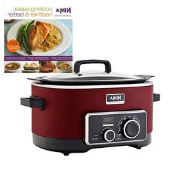 Ninja 6 Quart 3-In-1 Slow Cooker with Recipe Book