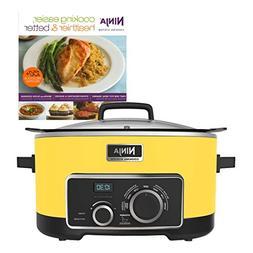 Ninja 6 Quart 4-In-1 Slow Cooker with Recipe Book