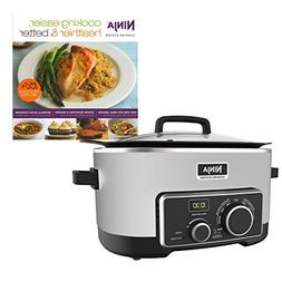 Ninja 6 Quart 4-In-1 Slow Cooker with Recipe Book