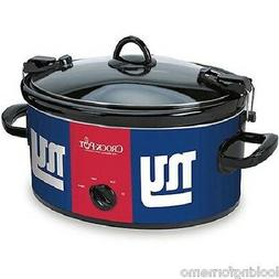 NY GIANTS Crock-Pot NFL 6-Quart Slow Cooker Cook and Carry N