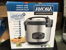 Open Box Aroma Professional ARC-3000SB Rice Slow Cooker Food