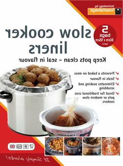 PACK OF 5 SLOW COOKER LINERS CROC POT LINERS 30 X 55CM KEEPS