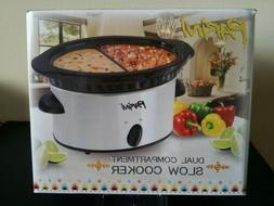 parini dual compartment slow cooker