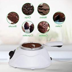 NutriChef PKFNMK14.101 Fondue Chocolate Melting Warming Set,