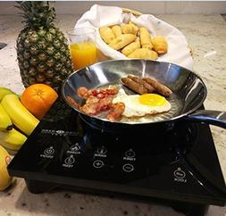 Evergreen Home Portable Induction Cooktop: 1800W Electric Co