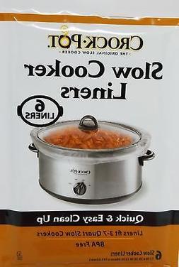Crock Pot Slow Cooker Liners, 30 Liners fit 3-7 Quart