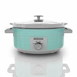 Pro Slow Cooker 7QT Oval Warmer Crock Pot Roast Soup Food Te