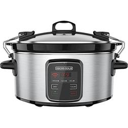 BLACK+DECKER Best Programmable Crock Pot 6-Quart Slow Cooker