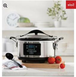 programmable slow cooker 6 qt stay or