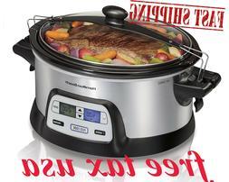programmable slow cooker 6 quart dual digital