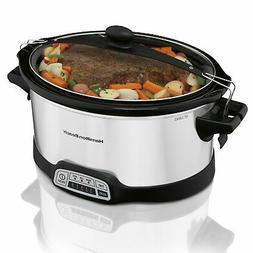 Hamilton Beach Programmable Slow Cooker, 7 quart with Clip-T