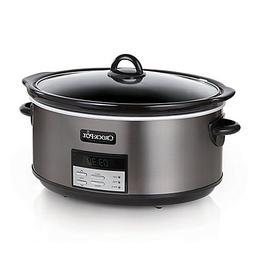 Crock-Pot® 8 qt. Programmable Slow Cooker in Black Stainles