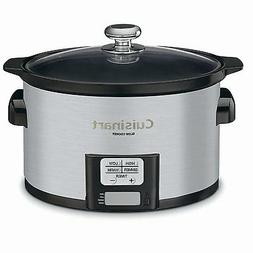 Programmable Slow Cooker w LCD Timer Oval Shaped Ceramic Pot