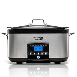 Magic Mill 5-In-1 6-Quart Multi-Cooker Slow Cooker Brown/Sau