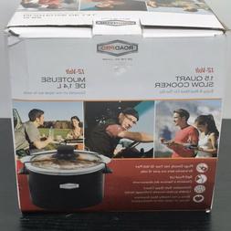 ROADPRO Quart Slow Cooker,Auto Travel,12V, RPSL-350 flrd5