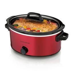 Hamilton Beach, 6 Quart Red Slow Cooker, Crock Pot Healthy H