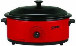 Nesco® 6-qt. Red Roaster Oven with Metal Lid & Porcelain