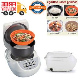 Rice Cooker 5.5 Cup with Food Steamer Slow Cooker 4 Settings