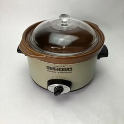 Rival Crock Pot Model 3154 4 Quart Removeable Server Vintage