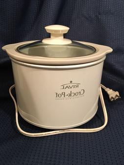 Rival Crock Pot Slow Cooker 1.5 Qt Removable Stoneware with