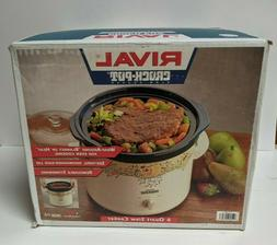 Rival Electric Crock Pot Slow Cooker 6 Quart Model 3656 With