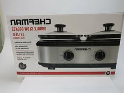 Chefman RJ15-125-D Double Slow Cooker & Buffet Server with 2