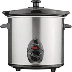 Brentwood Sc-130S Slow Cooker 3 quart 200W Stainless Steel B