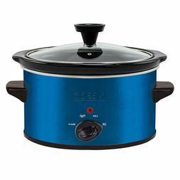 Nesco SC-150B Oval Slow Cooker, 1.5-Quart, Blue