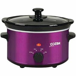 NESCO SC-150V, Oval Slow Cooker, Violet, Ceramic, 1.5 quart,