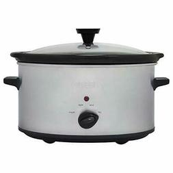 Nesco SC-6-25 Slow Cooker, 6 Qt, Silver