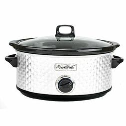 Brentwood SC-157W Diamond Pattern, 7 Quart  Slow Cooker
