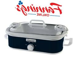 SCCPCCM350-BL Manual Slow Cooker, Navy Blue Cooker Navy Blue
