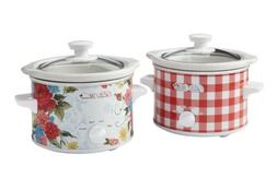 Set Of 2 Pioneer Woman 1.5Q Crock Pots
