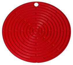 "Le Creuset Silicone 8"" Cool Tool Red Pot Holder Jar Griper S"