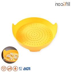 Liflicon Silicone Vegetable/Food Steamer Basket with Handles