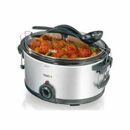 Lequip SLO-5500 Slow Cooker Stew Steamer Temperature Adjustm
