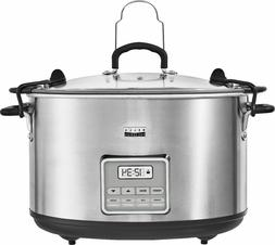 Slow Cooker 10 Qt Size Stainless Steel Bella Pro Series 3 Te
