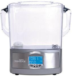 Slow Cooker 12 Qt. See-Through Lid in Grey Finish with Adjus