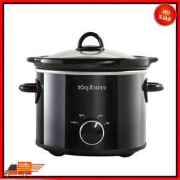 Slow Cooker 2 Quart Round, Manual Cooking Crock Pot Stonewar