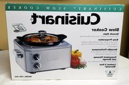 Cuisinart Slow Cooker 4 Quart Stainless Steel MODEL CSC-400