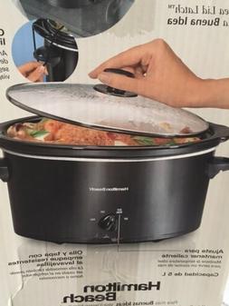 slow cooker 5 quart portable slow cooker