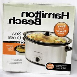 slow cooker 6 qt capacity oval shape