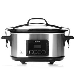 Slow Cooker, BESTEK 6 Quart Slow Cookers Programmable Digita