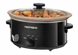 Chefman Slow Cooker, All-Natural XL 5 Qt. Pot, Glaze-Free, C