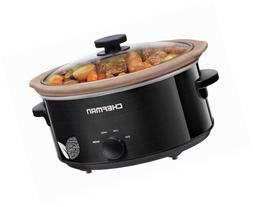 Chefman Slow Cooker, All Natural XL 7 Qt. Pot, Glaze-Free, S
