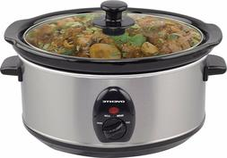 Ovente Slow Cooker Chef Adjustable w/ Tempered Glass Lid, 3.