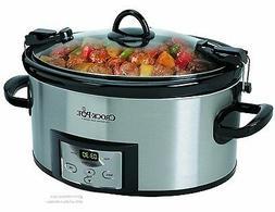 Slow Cooker Crock Pot Digital Programmable Removable Cook &