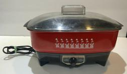 slow cooker electric euc red 3 5