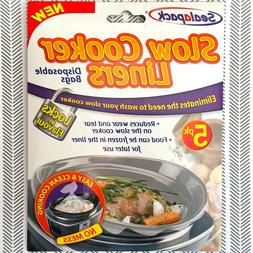 slow cooker liners 5 pack for round