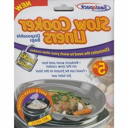 Sealapack Slow Cooker Liners Pk of 5 For Round & Oval Slow C